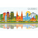 Quebec Canada Skyline with Color Buildings, Blue Sky and Reflections. - GraphicRiver Item for Sale