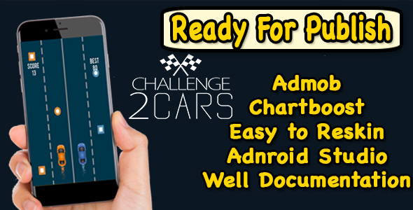 2 Car Challenge - Endless Run Game - Android Studio Project - Ready For Publish - CodeCanyon Item for Sale