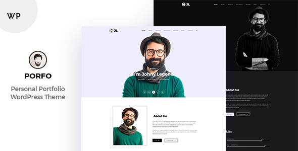 Porfo Minimal Personal WordPress Theme
