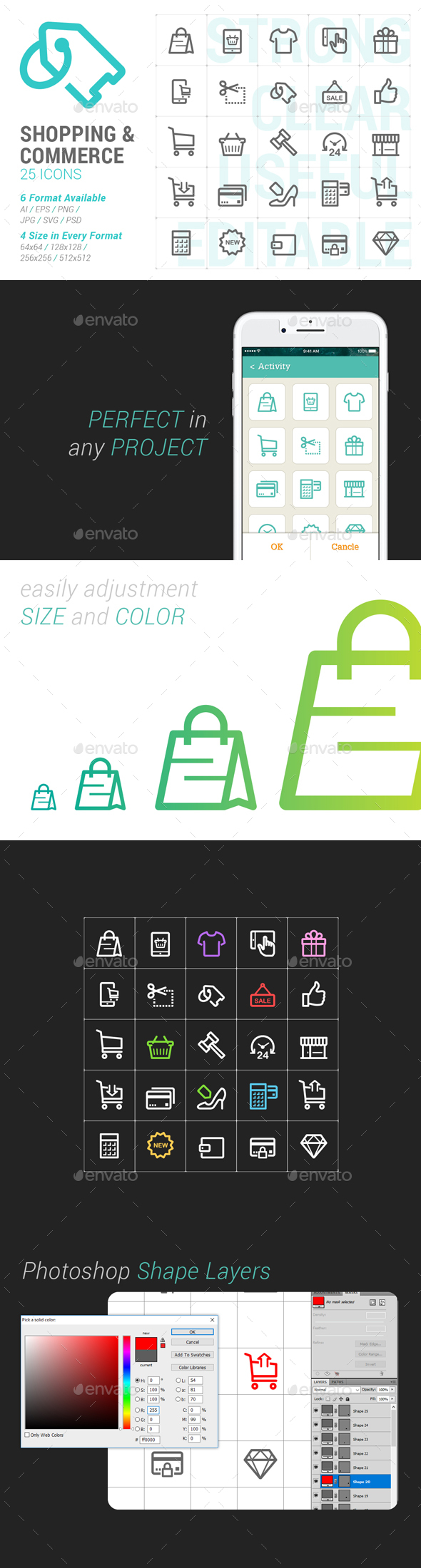 Shopping & Commerce Mini Icon - Business Icons