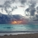 Dramatic Caribbean Sunrise Over Ocean Waves. Storm - VideoHive Item for Sale