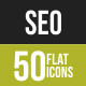 50 SEO Grey Scale Icons - GraphicRiver Item for Sale