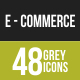 48 Ecommerce Grey Scale Icons - GraphicRiver Item for Sale