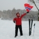 Happy Man Sport Fan Waving Flag of Norway Outdoors - VideoHive Item for Sale