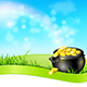 Pot of Gold on a Blue Sky Background - GraphicRiver Item for Sale