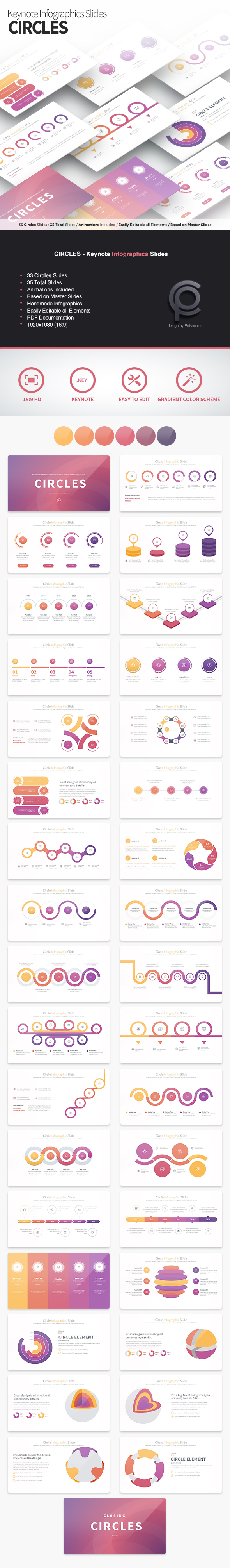 Circles - Keynote Infographics Slides - Business Keynote Templates
