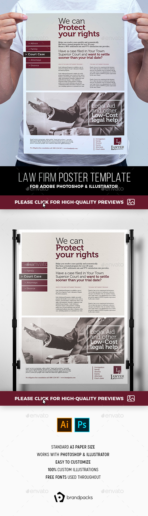 Law Firm Poster Template - Corporate Flyers