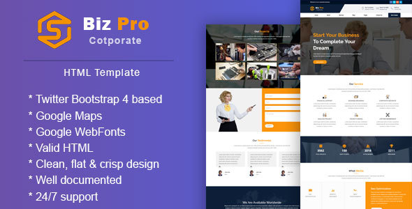 BizPro || Corporate & Business Responsive Template - Business Corporate