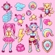 Set of Japanese Anime Cosplay Objects - GraphicRiver Item for Sale