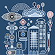 Robot City Vector Illustration - GraphicRiver Item for Sale