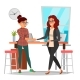 Business Partnership Concept Vector. Two Business