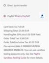 Paypal payment description.  thumbnail