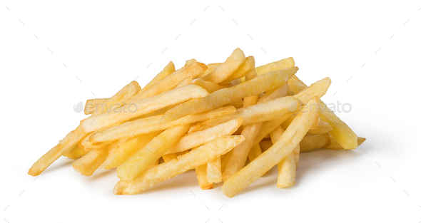 french fries isolated on white - Stock Photo - Images