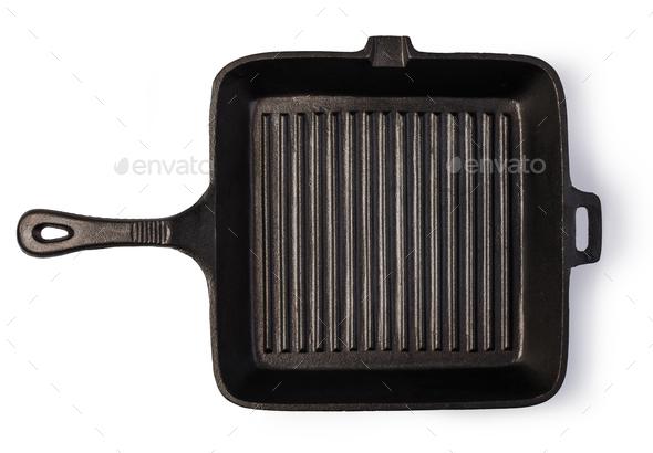 iron frying pan - Stock Photo - Images