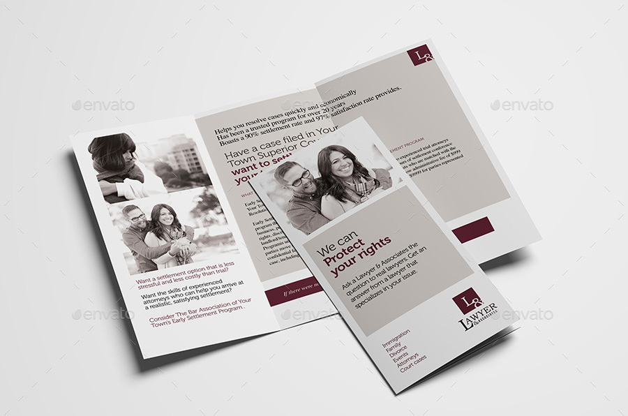 Law Firm Tri-Fold Brochure Template