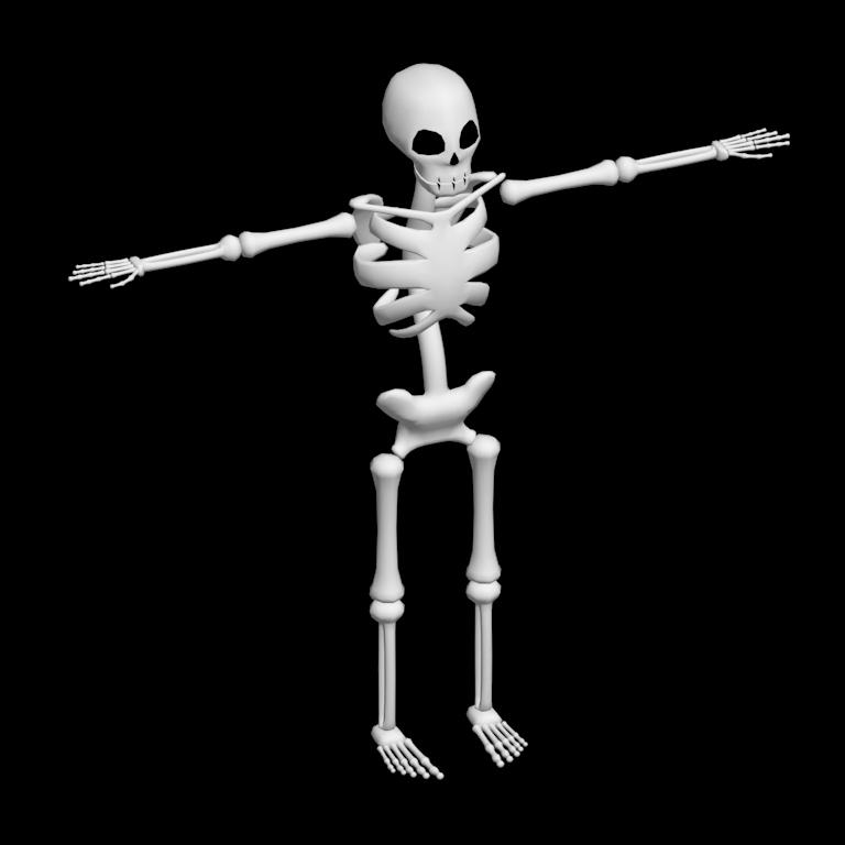 Low Poly Skeleton