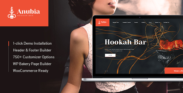 Anubia | Hookah Bar WordPress Theme - Restaurants & Cafes Entertainment