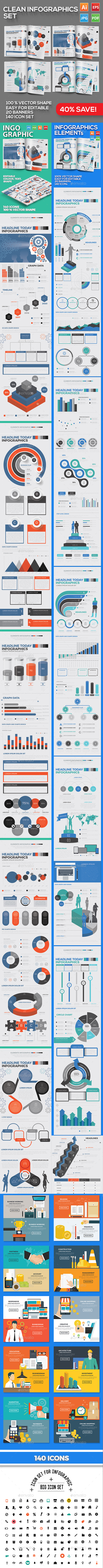 Clean Infographics Design - Infographics