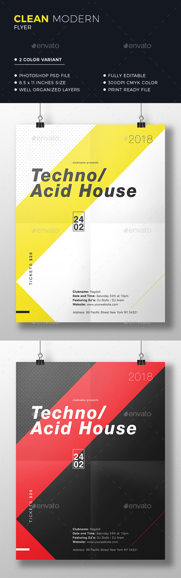 Clean Minimal Flyer - Events Flyers