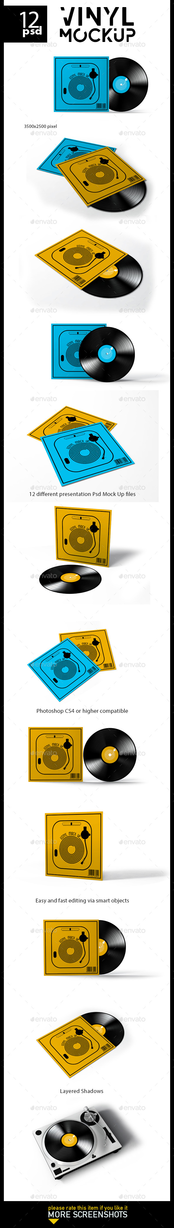 Vinyl Record Mock-Up - Print Product Mock-Ups