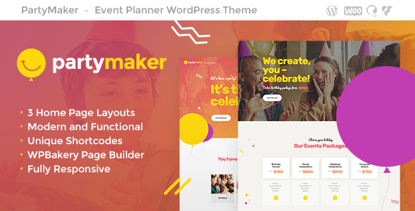PartyMaker | Event Planner WordPress Theme - Events Entertainment