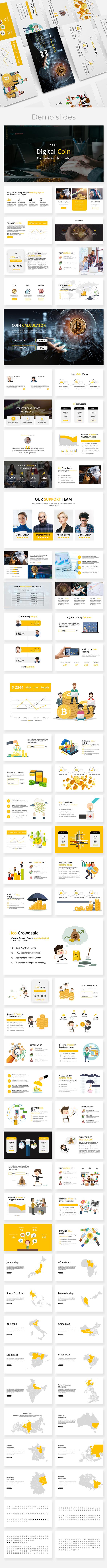 Digital Coin - Business Keynote Presentation - Business Keynote Templates