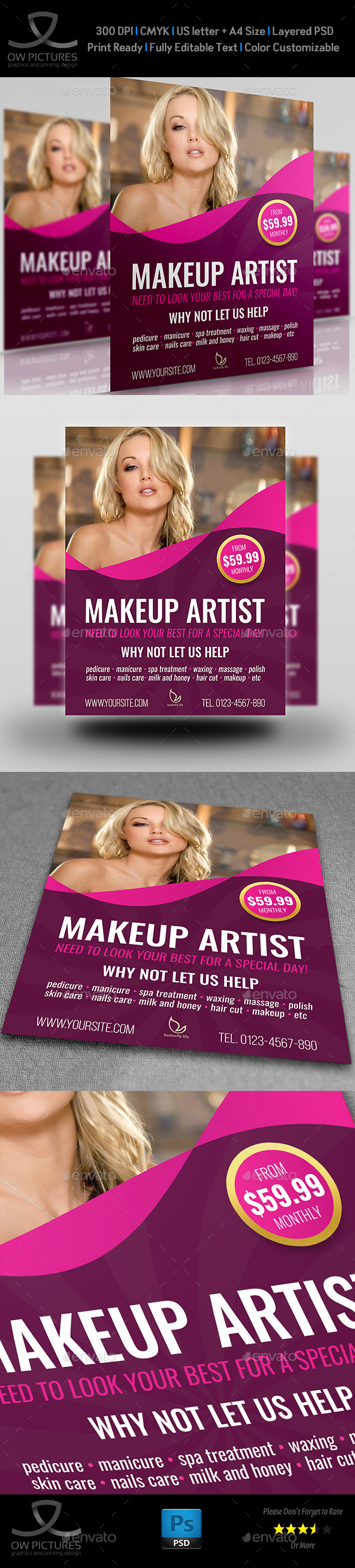 Beauty Center Flyer Template Vol.2 - Commerce Flyers