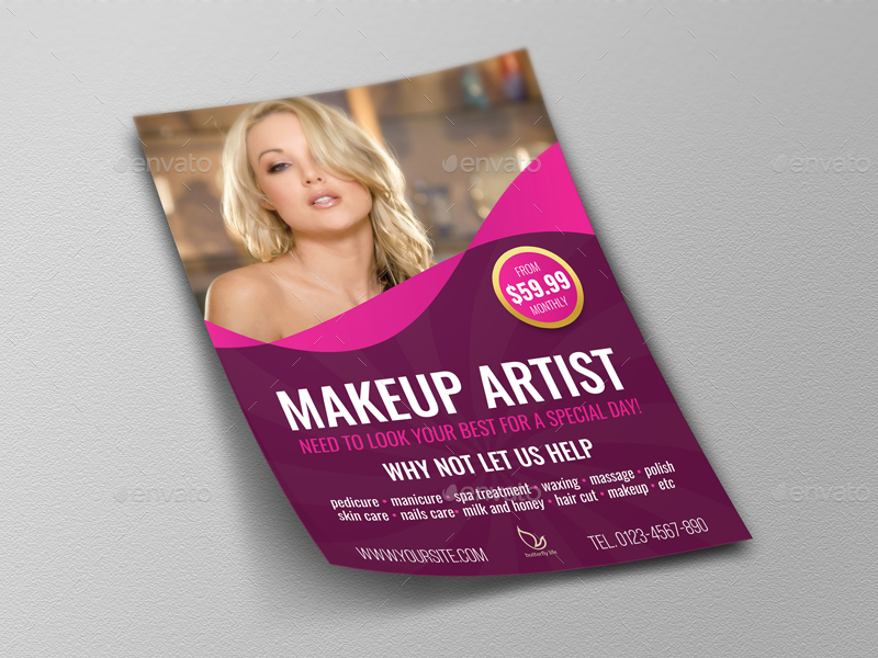 Beauty Center Flyer Template Vol2 By Owpictures Graphicriver