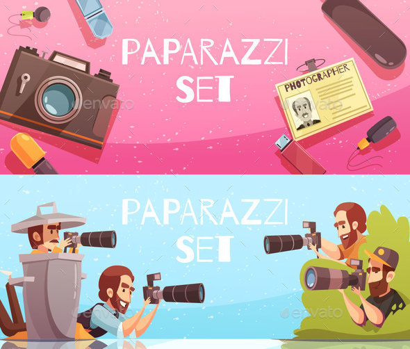 Paparazzi Horizontal Banners Collection - People Characters