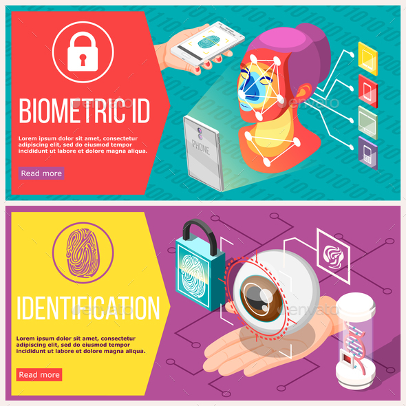 Biometric ID Horizontal Banners - Computers Technology