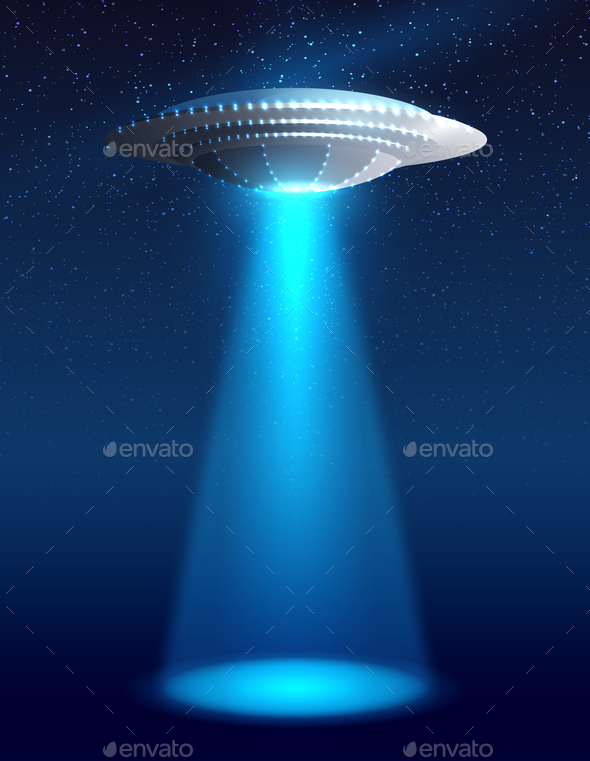 Alien Spaceship Illustration - Miscellaneous Vectors