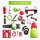 Fitness Gym Transparent Set - GraphicRiver Item for Sale