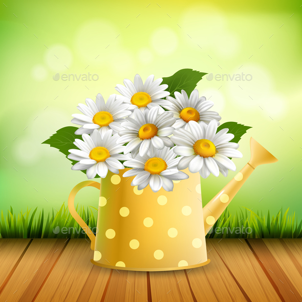 Armful of Daisy Realistic Composition - Flowers & Plants Nature