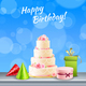 Birthday Party Accessories Realistic - GraphicRiver Item for Sale