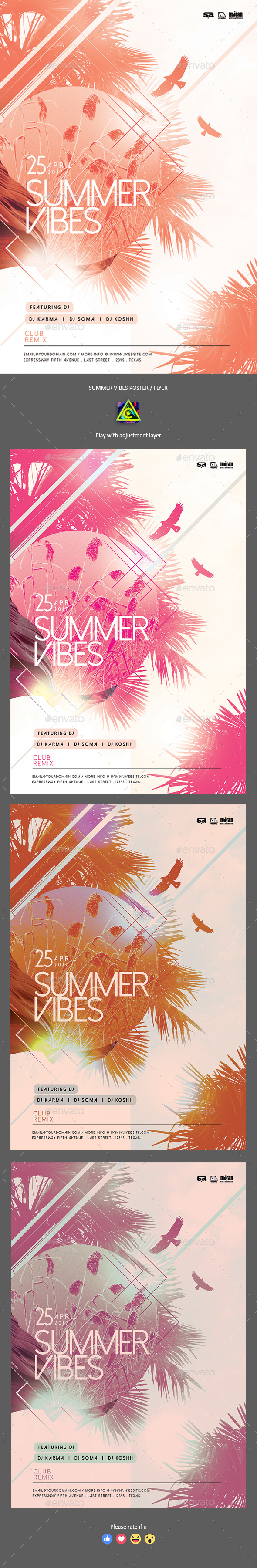 Summer Vibes Poster / Flyer - Clubs & Parties Events