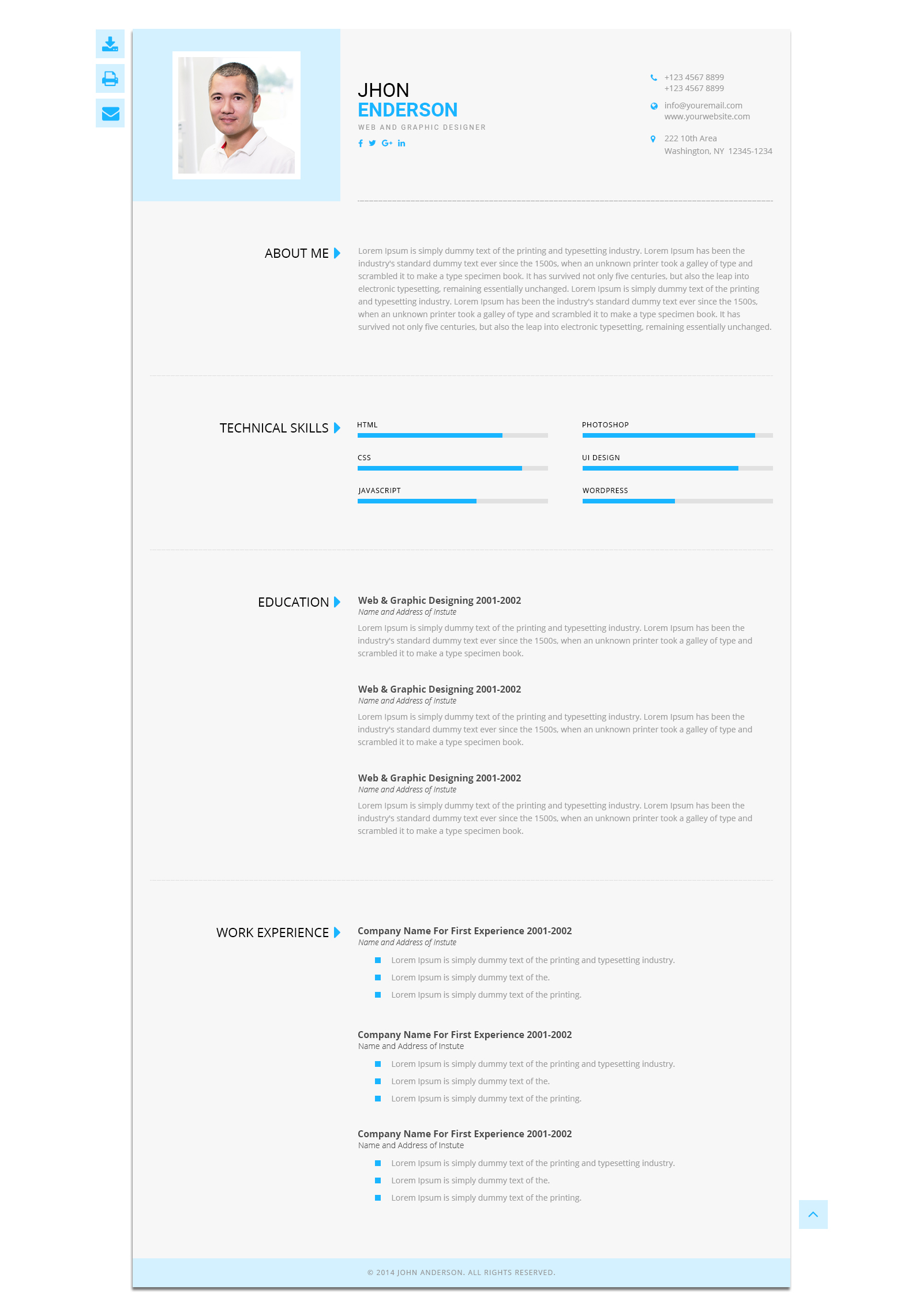 ... Personal Resume Template   PSD Templates. Theme_preview/00_Preview  ...  Personal Resume Template
