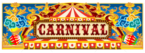 Carnival Banner with Circus Tent - Miscellaneous Vectors