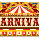 Carnival Banner with Circus Tent