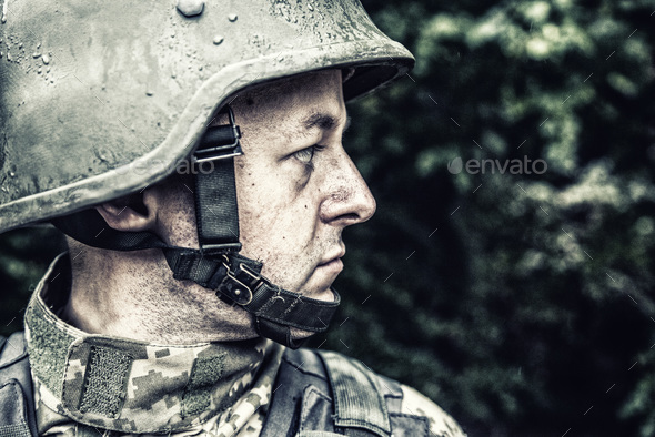 ukrainian military soldier - Stock Photo - Images