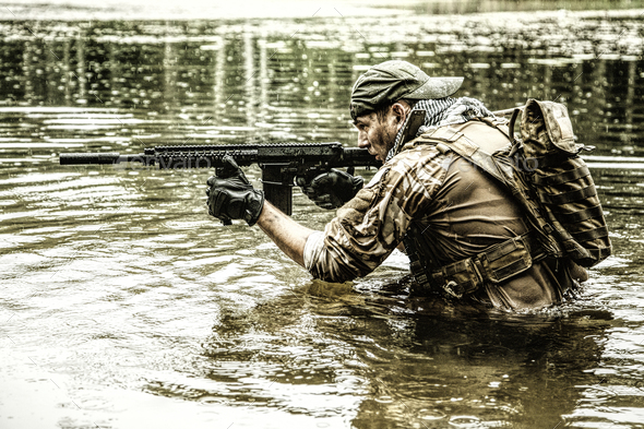 Private military contractor - Stock Photo - Images