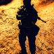 Black silhouette of soldier - PhotoDune Item for Sale