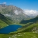 Lake in Mountains with Moving Clouds - VideoHive Item for Sale