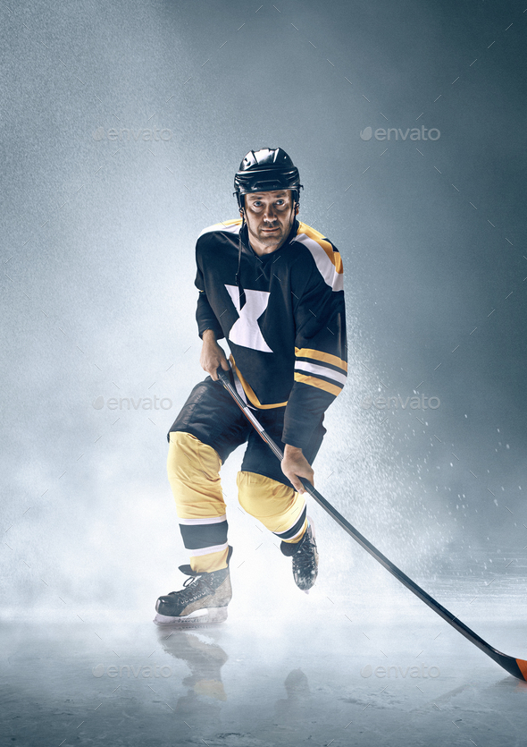 Ice hockey player in action. - Stock Photo - Images