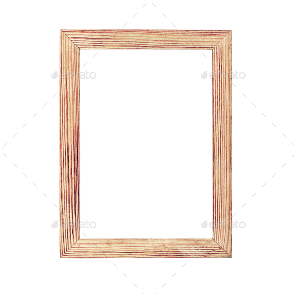 Simple wooden photo frame - Stock Photo - Images