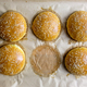Homemade burger bun on parchment - PhotoDune Item for Sale