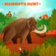 Mammoth Hunt Vector Illustration