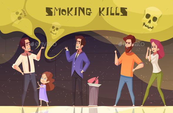 Smoking Kills Vector Illustration - Health/Medicine Conceptual