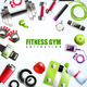 Fitness Gym Composition