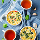 Spinach Red Bell Pepper Baked Omelet - PhotoDune Item for Sale