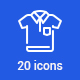 20 Clothing icons